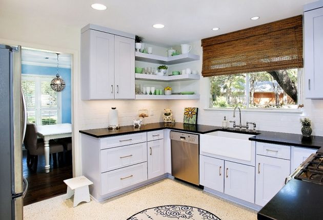 Best ideas about Corner Kitchen Ideas . Save or Pin 20 Super Functional Corner Kitchen Designs Suitable For Now.