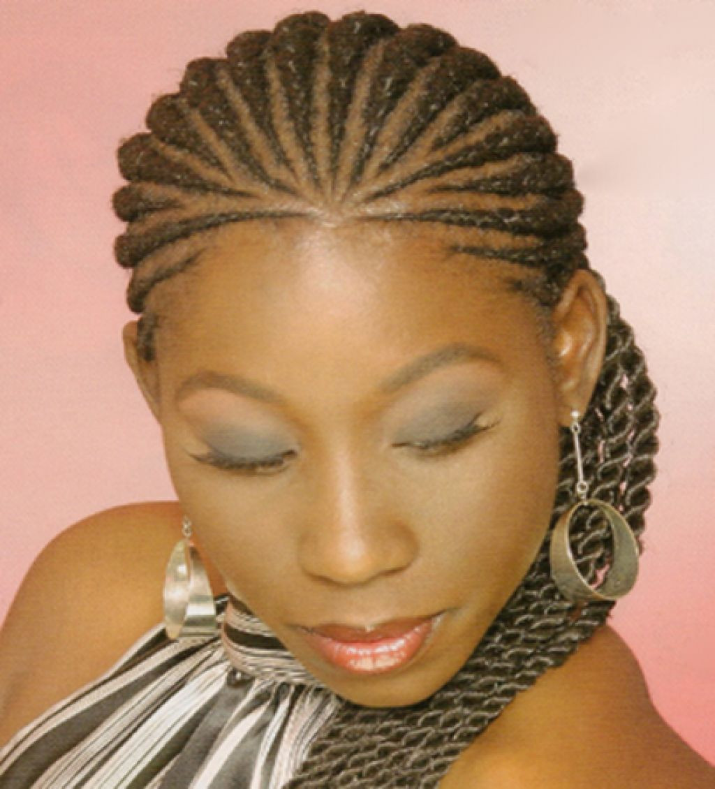 Cornrow Braid Hairstyles  African Cornrow Braids Styles Side View Popular Long