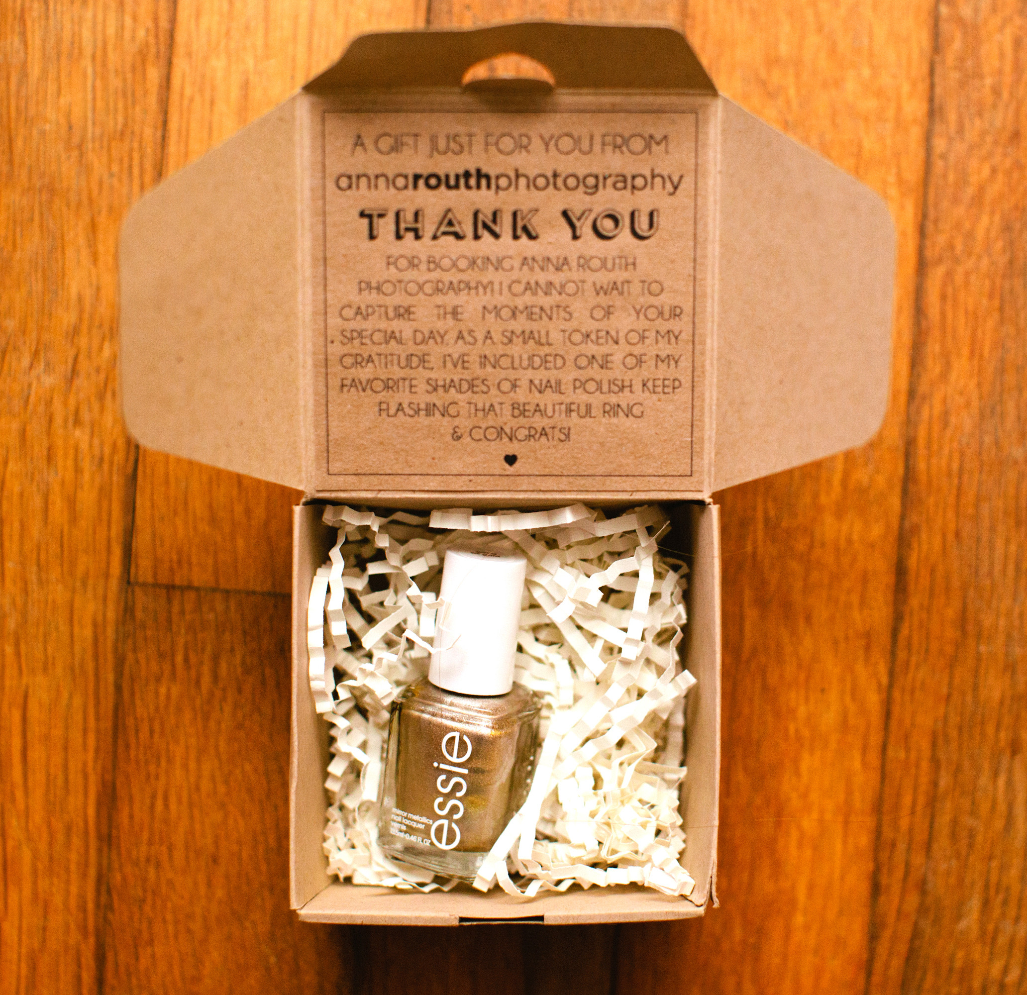 Corporate Thank You Gift Ideas  Anna Routh graphy Packaging
