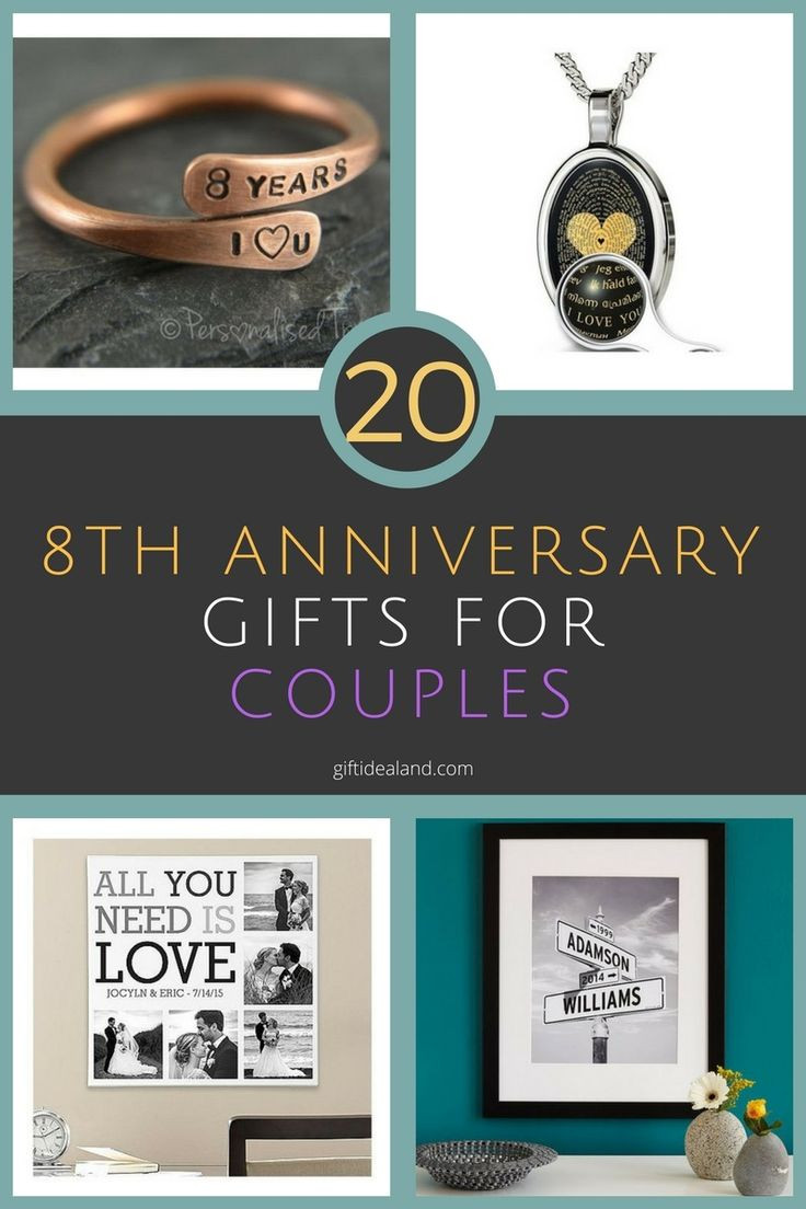 Best ideas about Couple Gift Ideas For Him . Save or Pin Best 25 8th anniversary ideas on Pinterest Now.