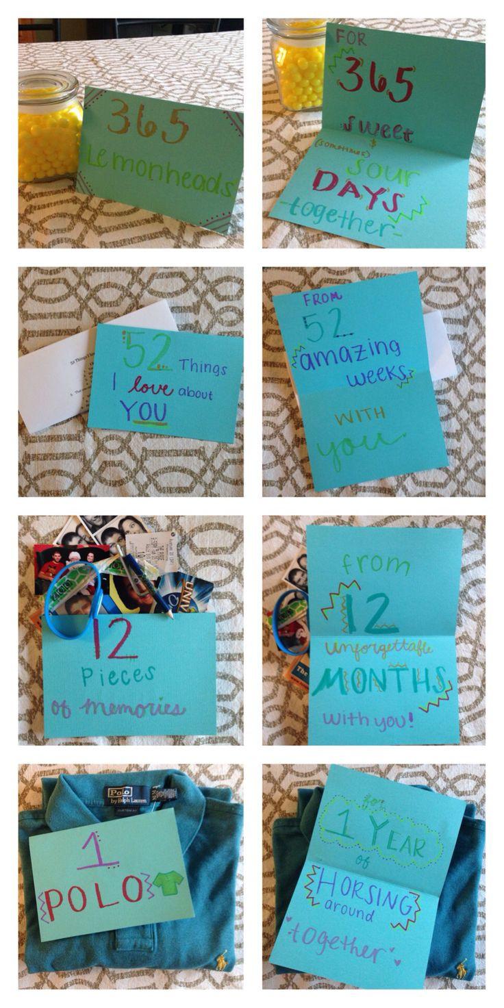 Couple Gift Ideas Your Boyfriend  e year anniversary with my boyfriend t
