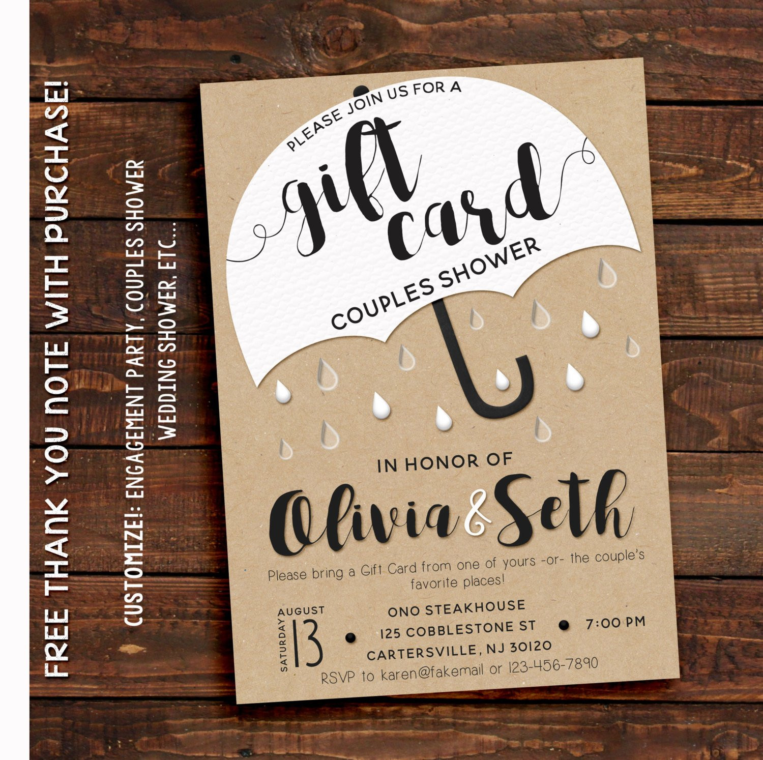 Best ideas about Couple Shower Gift Ideas . Save or Pin Couples Shower Invitation Couples Shower Invitation Now.