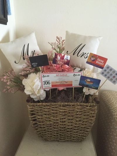 Best ideas about Couple Shower Gift Ideas . Save or Pin Gift cards make great fillers in baskets for the happy Now.