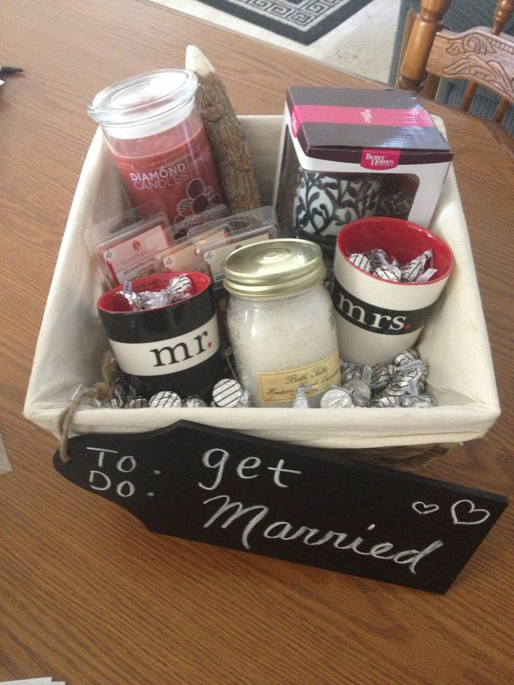 Best ideas about Couple Shower Gift Ideas . Save or Pin Bridal shower t basket for the bride you don t know too Now.