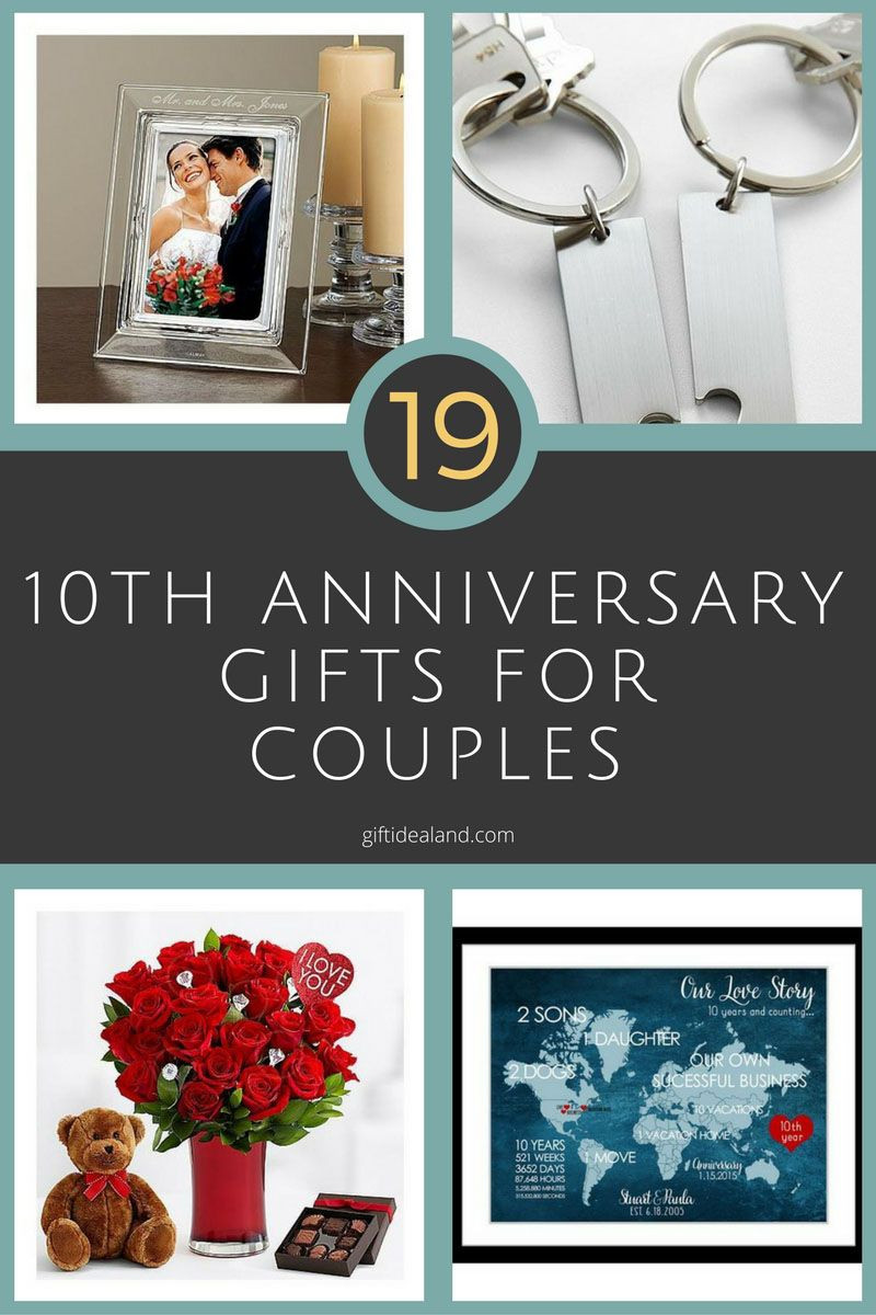 Best ideas about Couples Anniversary Gift Ideas . Save or Pin 26 Great 10th Wedding Anniversary Gifts For Couples Now.