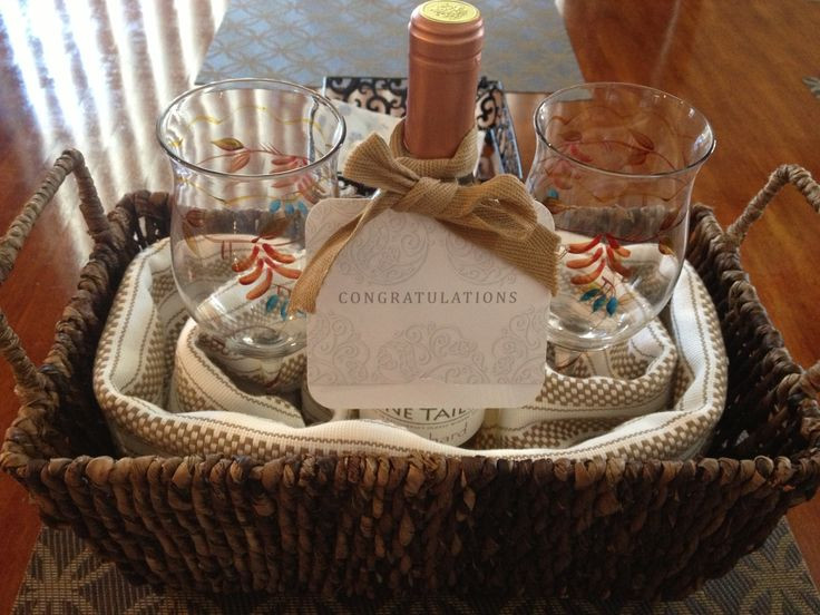 Best ideas about Couples Gift Basket Ideas . Save or Pin DIY house warming t wicker basket kitchen towels 2 Now.