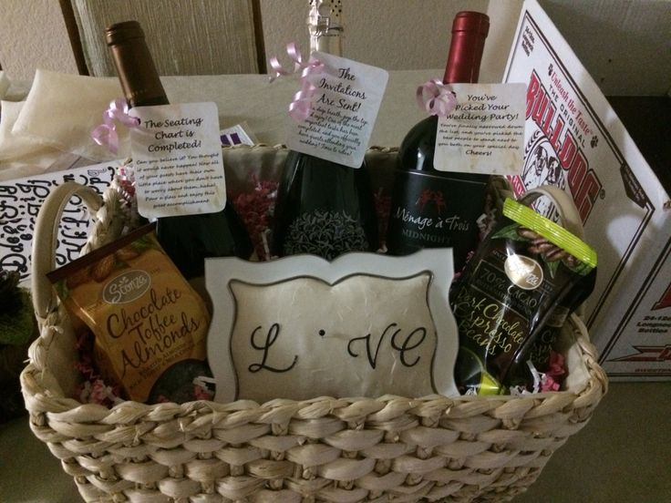 Best ideas about Couples Gift Basket Ideas . Save or Pin Engagement party t basket for a great couple Now.