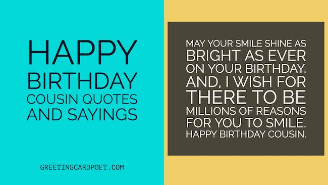 Cousin Birthday Quotes  Happy Birthday Cousin Quotes and Sayings