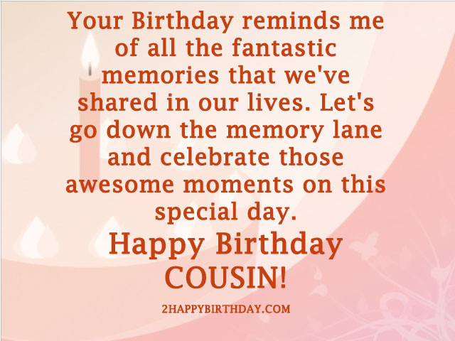 Cousin Birthday Quotes  Happy Birthday Cousin Wishes and Quotes 2HappyBirthday