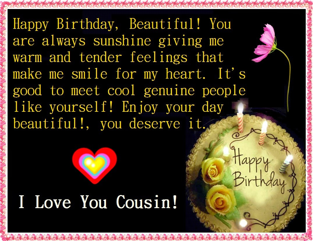 Cousin Birthday Quotes  Birthday Quotes For Cousin Female QuotesGram