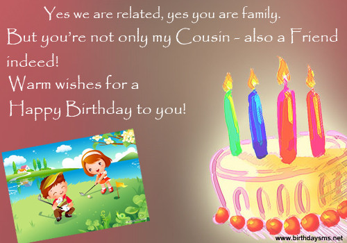 Cousin Birthday Quotes  Happy Birthday Quotes For Cousins QuotesGram