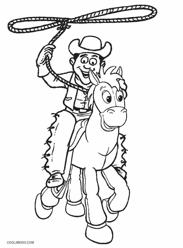Cowboy Coloring Pages  Printable Cowboy Coloring Pages For Kids