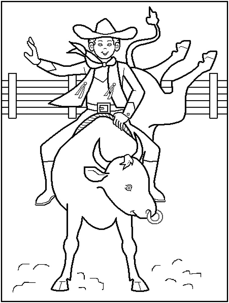 Cowboy Coloring Pages  Free Printable Cowboy Coloring Pages For Kids