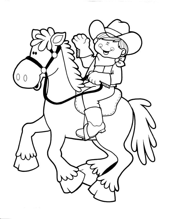 Cowboy Coloring Pages  Coloriages de Cowboy Les personnages