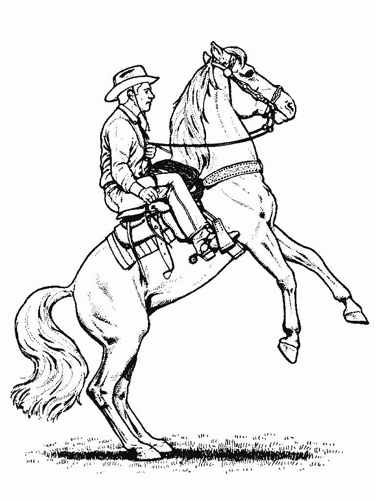 Cowboy Coloring Pages  Cowboy coloring pages for kids Coloring Pages