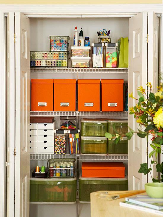Craft Closet Organization Ideas  Inspiration Craft Closet Organization The Inspired Room