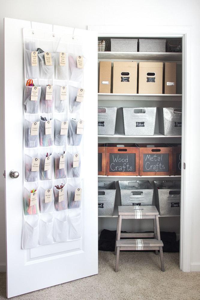 Craft Closet Organization Ideas  How to Organize a Craft Closet