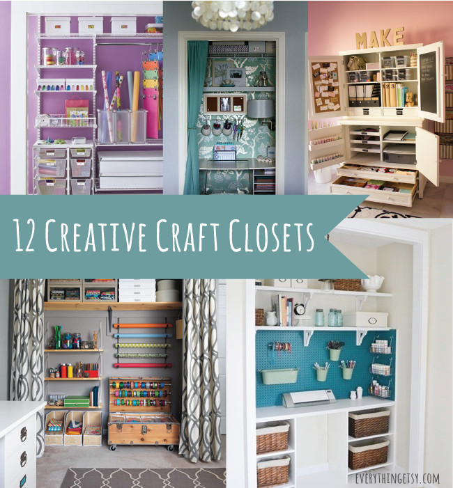 Craft Closet Organization Ideas  12 Creative Craft Closets amazing ideas