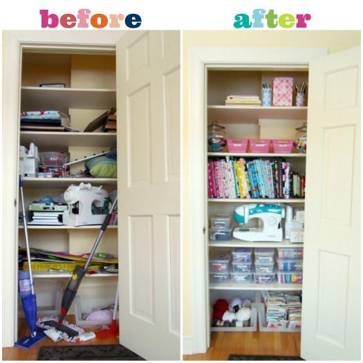 Craft Closet Organization Ideas  IHeart Organizing Reader Space A Crazy Cool Craft Closet
