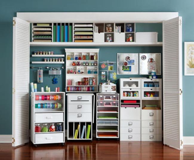 Craft Closet Organization Ideas  Cube bookcase black swivel storage cabinet with mirror