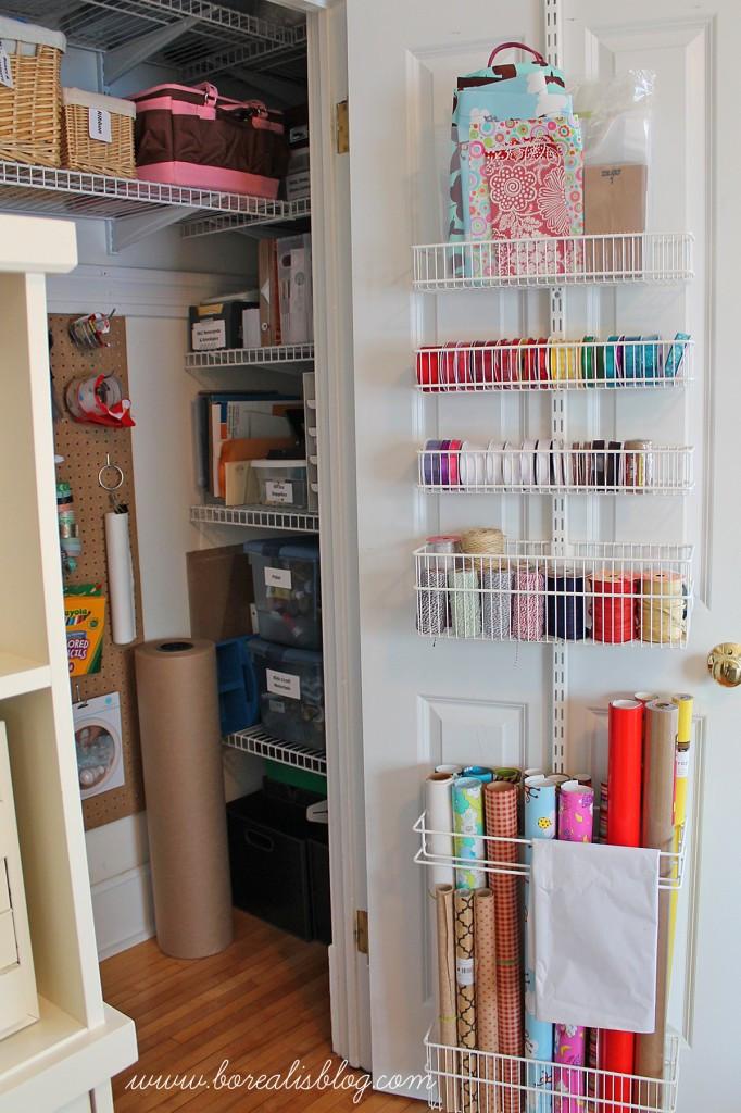 Craft Closet Organization Ideas  fice and Craft Closet Re Organization Borealis
