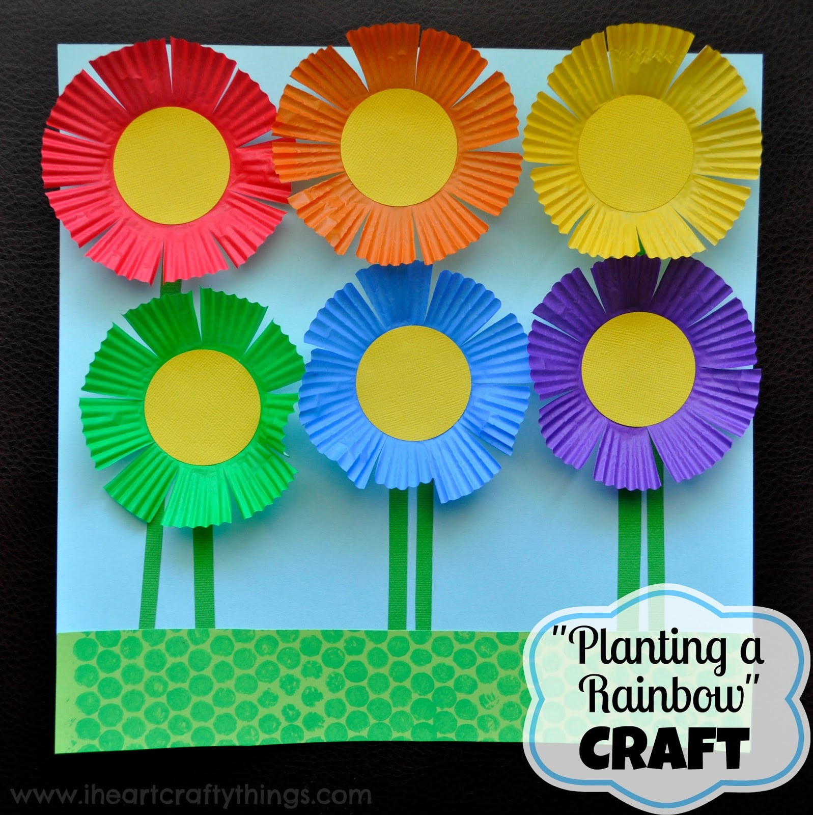 Craft For Preschoolers  Planting a Rainbow Flower Craft