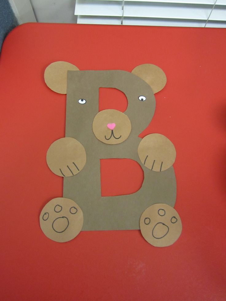 Craft For Preschoolers  Letter B Crafts for Kindergarten Preschool and Kindergarten