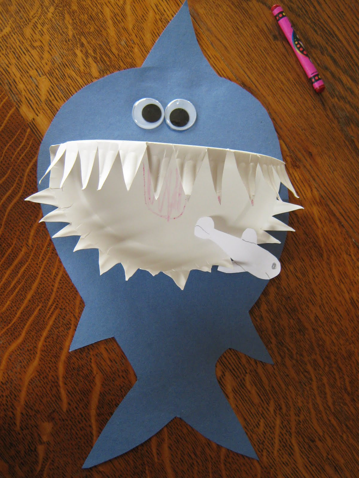 Craft For Preschoolers  Almost Unschoolers Paper Plate Shark Craft