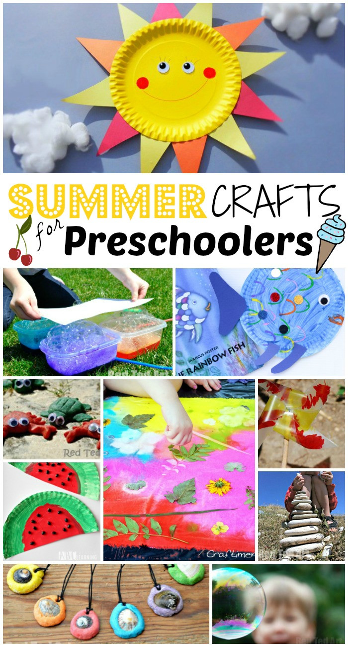 Craft For Preschoolers  Summer Crafts for Preschoolers Red Ted Art s Blog
