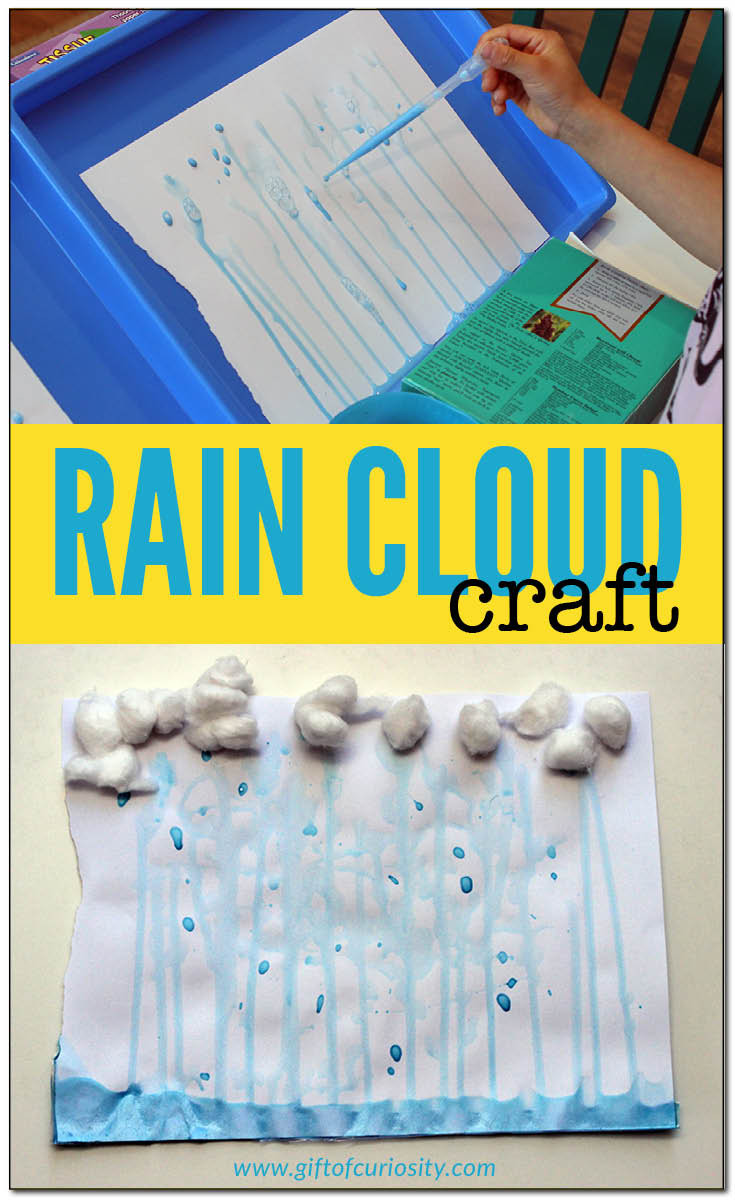 Best ideas about Craft Projects For Toddlers . Save or Pin Rain cloud craft Gift of Curiosity Now.
