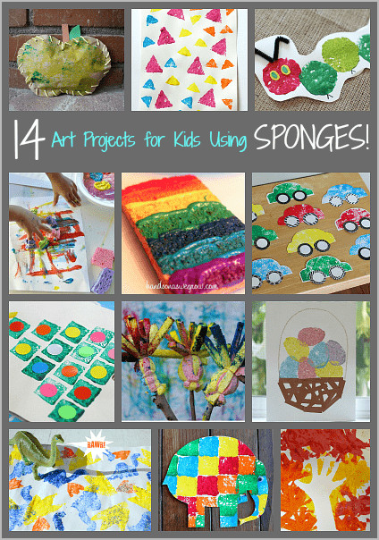 Best ideas about Craft Projects For Toddlers . Save or Pin 14 Art Projects for Kids Using Sponges Buggy and Buddy Now.
