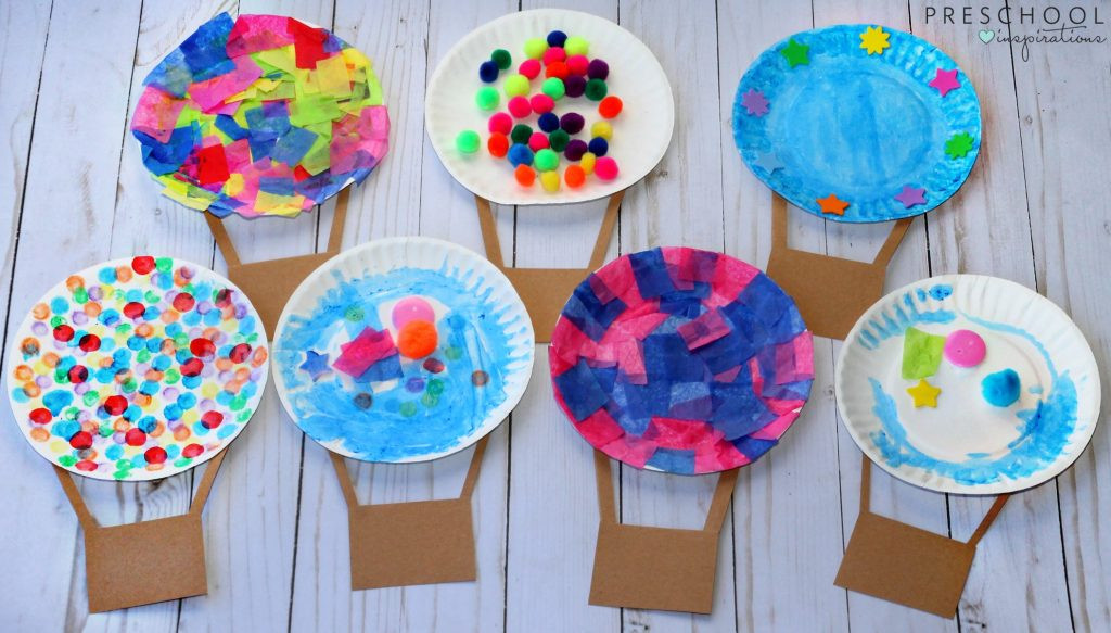 Best ideas about Craft Projects For Toddlers . Save or Pin Hot Air Balloon Process Art Activity Preschool Inspirations Now.