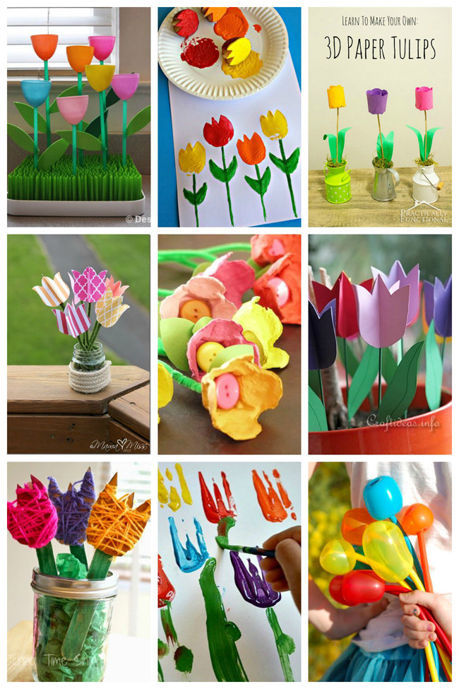 Best ideas about Craft Projects For Toddlers . Save or Pin 25 Tulip Crafts for Kids Now.