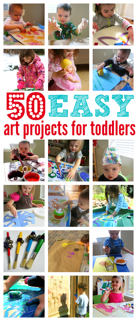 Best ideas about Craft Projects For Toddlers . Save or Pin 50 Easy Art Projects For Toddlers No Time For Flash Cards Now.