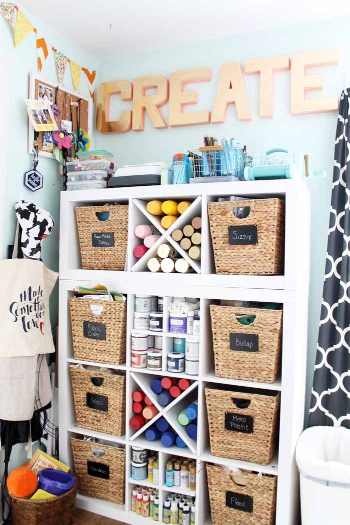 Craft Room Organizing Ideas  Craft Room Organization Ideas from a Craft Blogger The