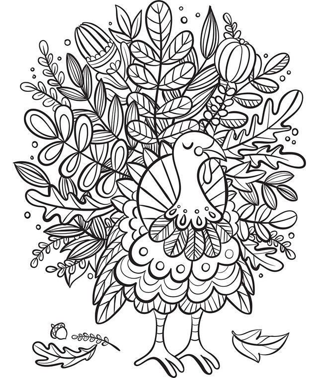Best ideas about Crayola Adult Coloring Books . Save or Pin Turkey Foliage Coloring Page Now.