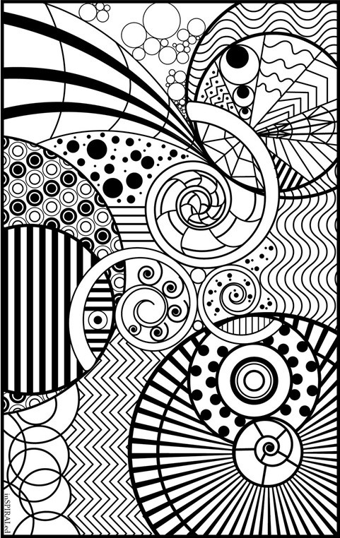 Best ideas about Crayola Adult Coloring Books . Save or Pin InSPIRALed Adult Colouring Page Now.