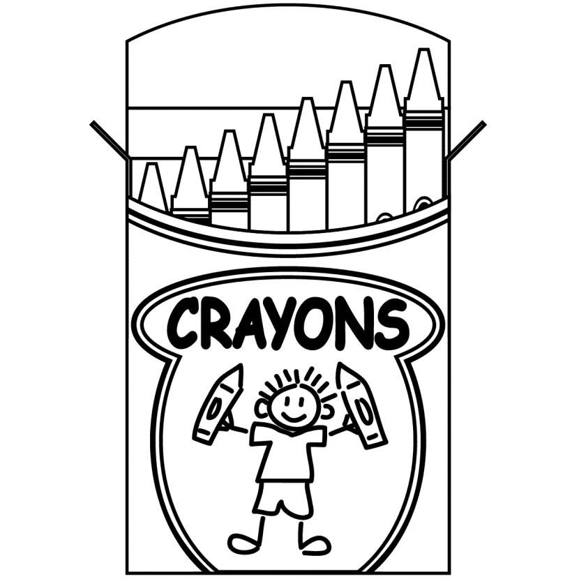 Crayon Coloring Pages  Crayon Box Clip Art Clipartion