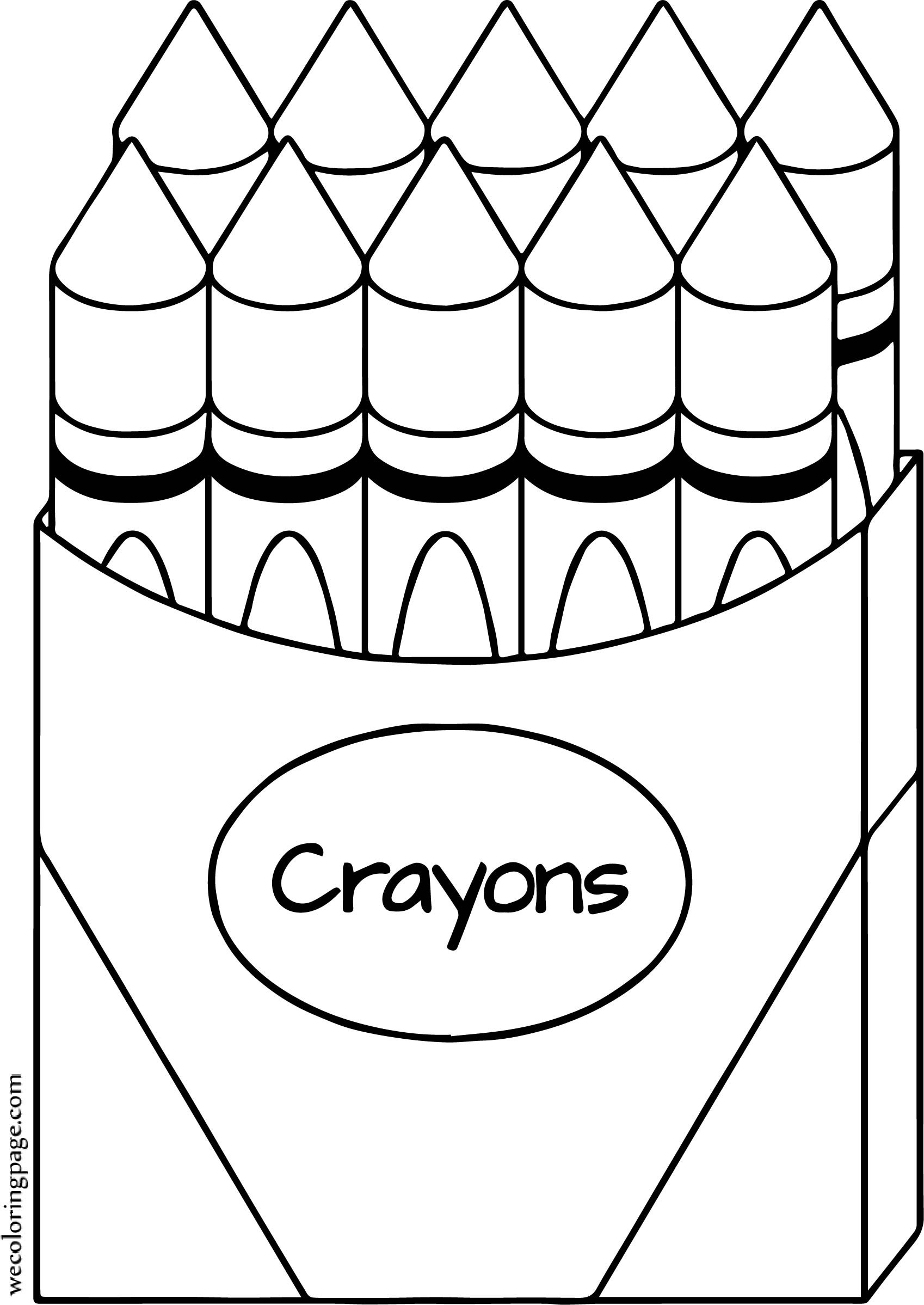 Crayon Coloring Pages  Crayon All Coloring Page