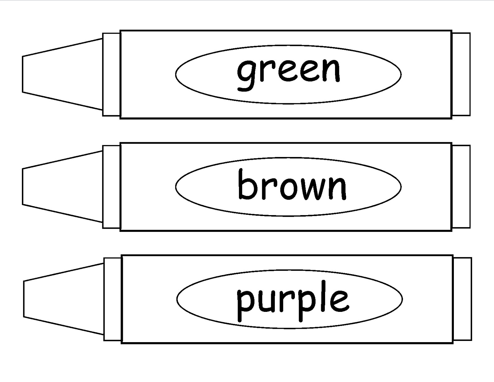 Crayon Coloring Pages  Crayons Coloring Page Bestofcoloring