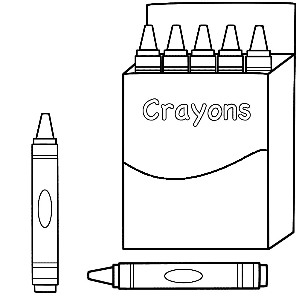 Crayon Coloring Pages  Back to School Coloring Pages Best Coloring Pages For Kids