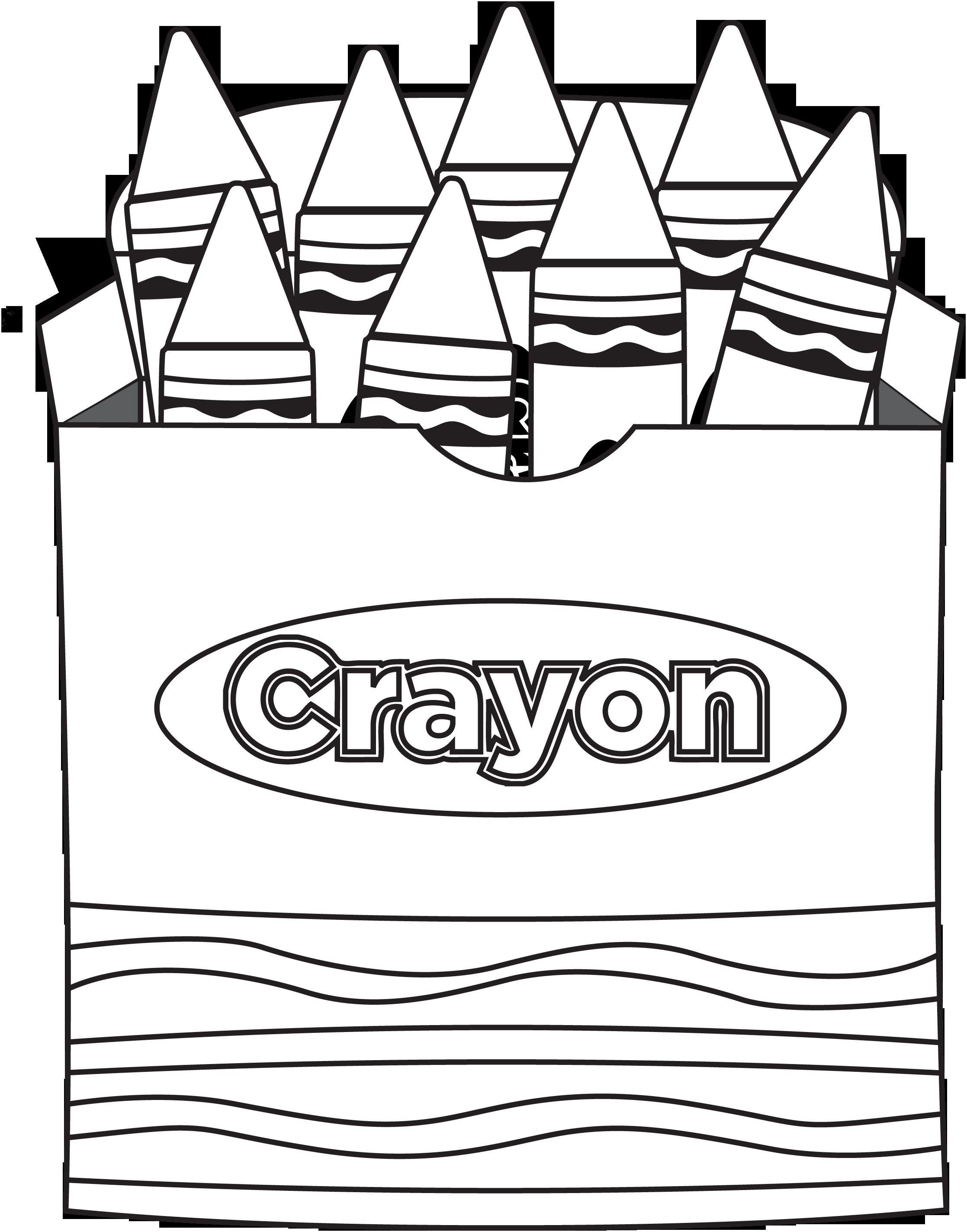 Crayon Coloring Pages  Color My World Valentine Printable