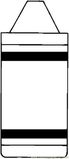 Crayon Coloring Pages  Crayon Box Coloring Page