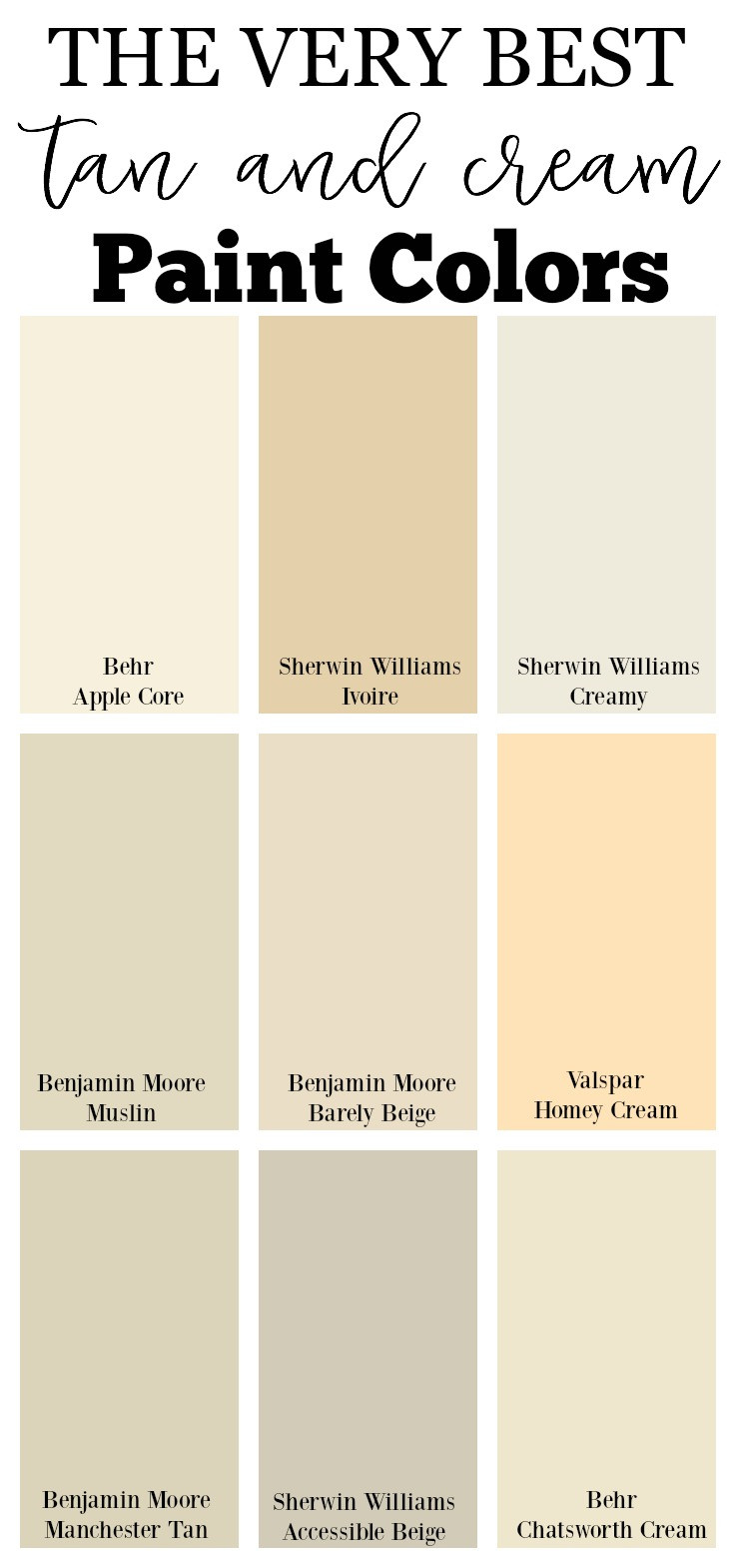 Best ideas about Cream Paint Colors . Save or Pin The Best Neutral Paint Colors for Your Home Now.