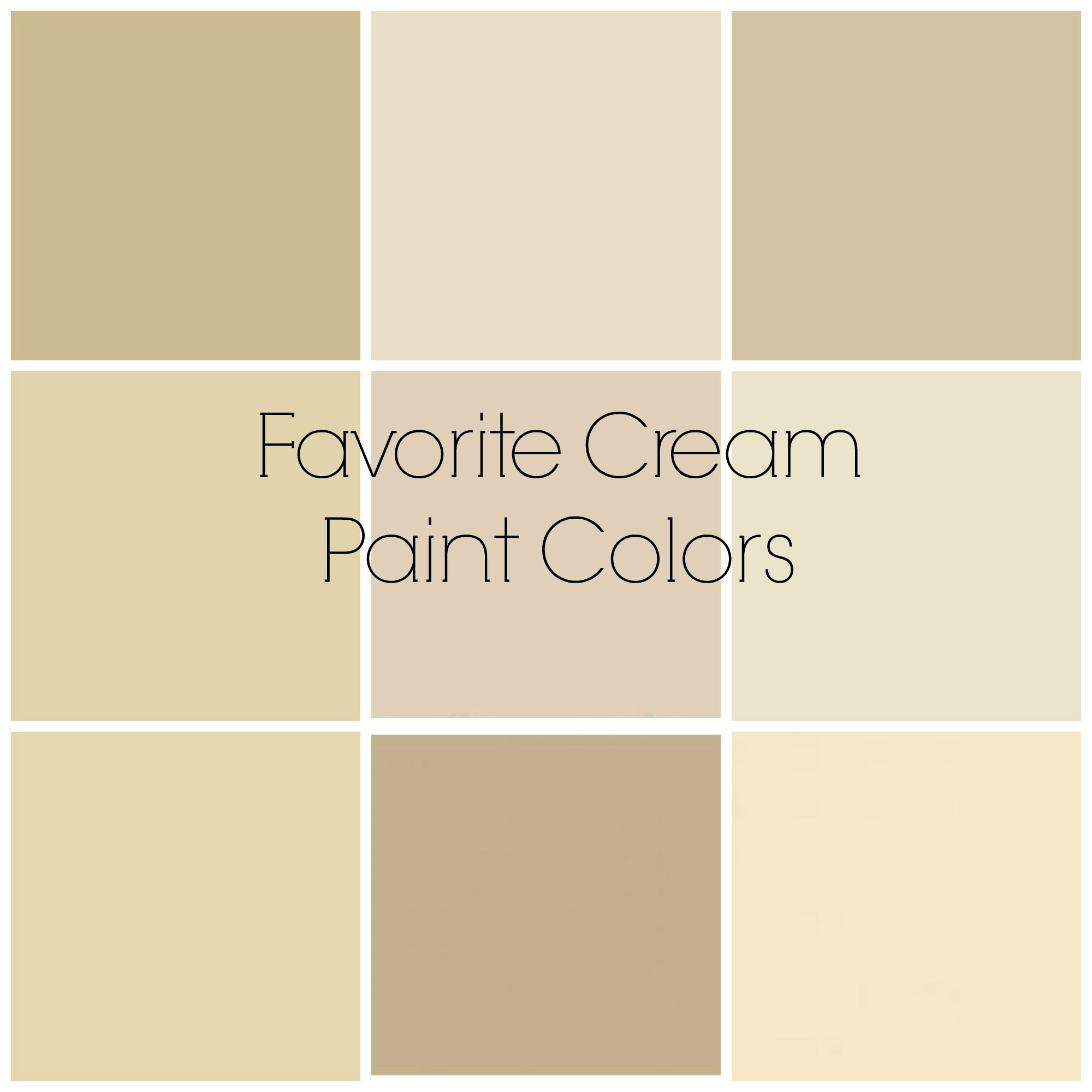 Best ideas about Cream Paint Colors . Save or Pin my favorite colors Now.