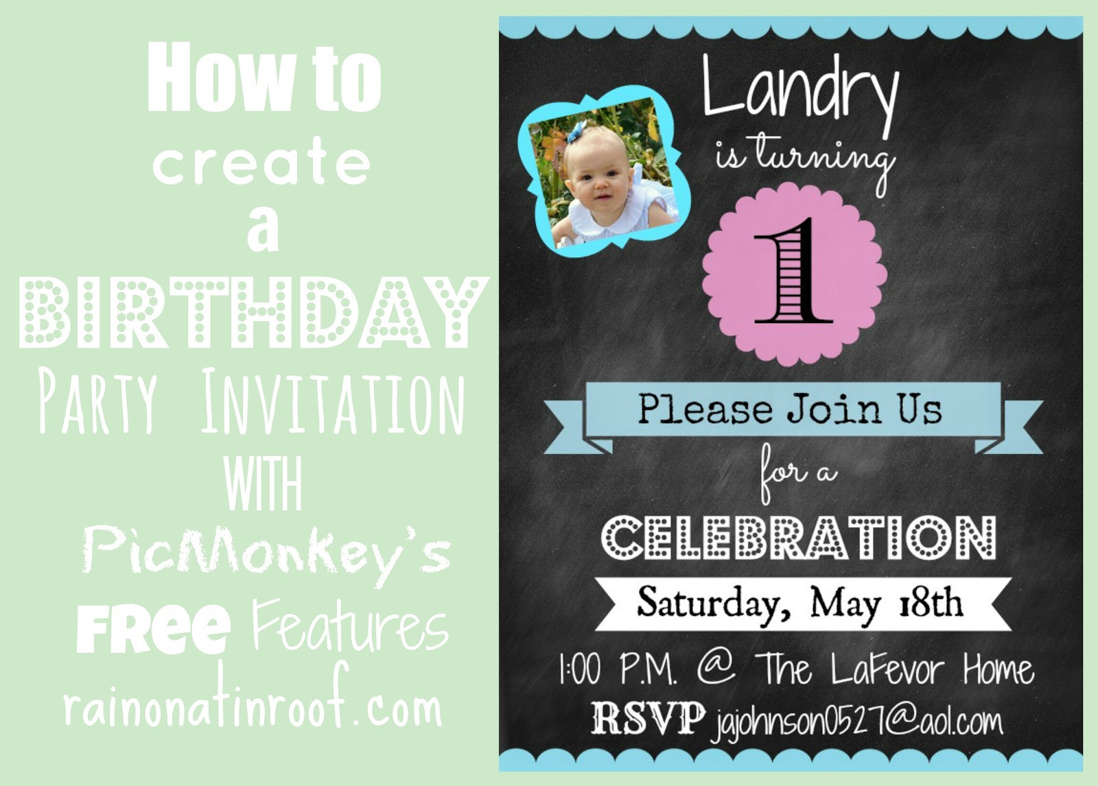 Create Birthday Party Invitations  How to Create an Invitation in Picmonkey