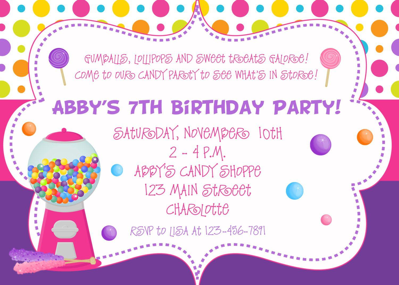 Create Birthday Party Invitations  birthday invitation card Custom birthday party