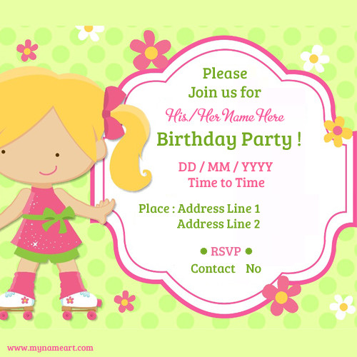 Create Birthday Party Invitations  Create Birthday Party Invitations Card line Free