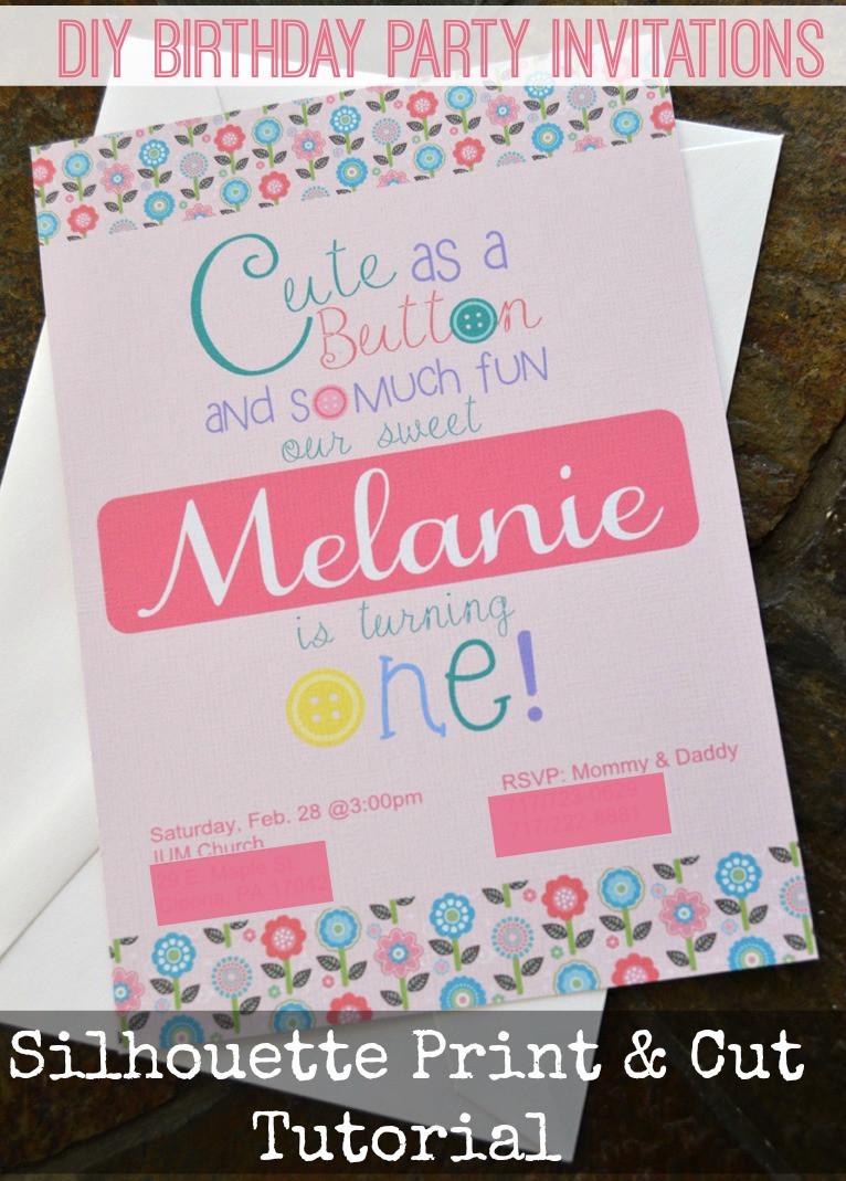 Create Birthday Party Invitations  Print & Cut Birthday Invitations Create and Babble