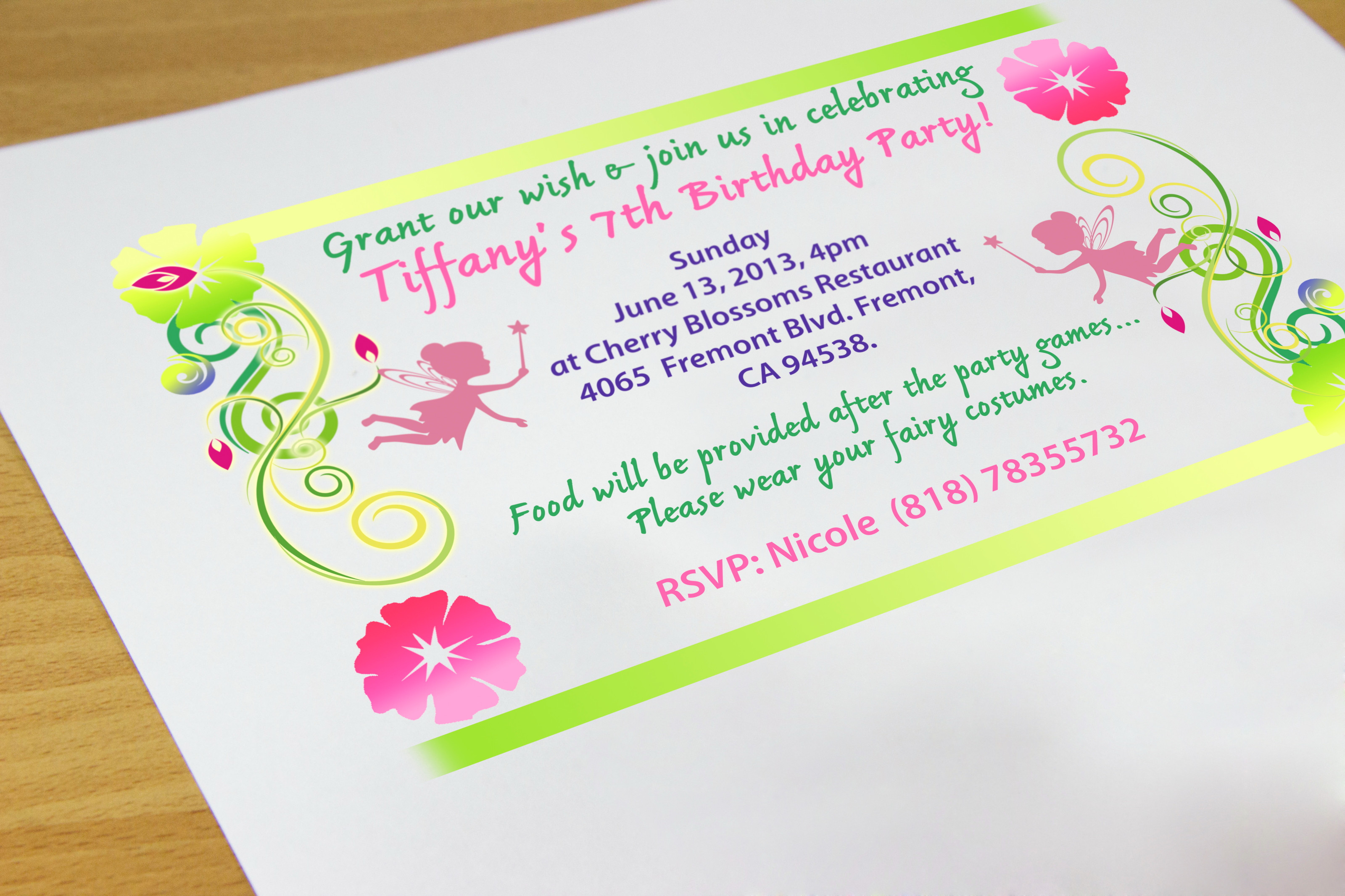Create Birthday Party Invitations  How to Create Your Own Birthday Invitations 7 Steps